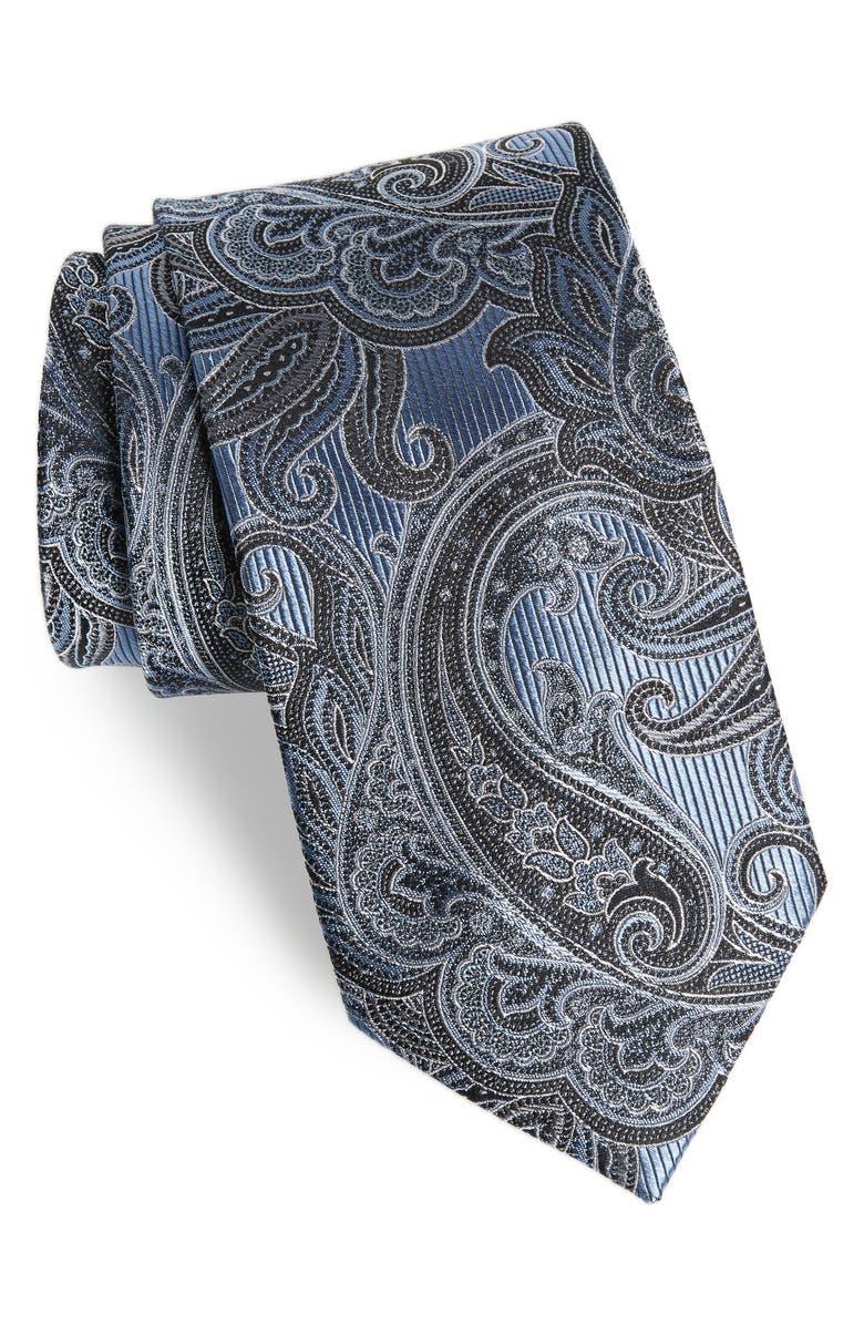 NORDSTROM MEN'S SHOP Paisley X-Long Silk Tie, Main, color, 400