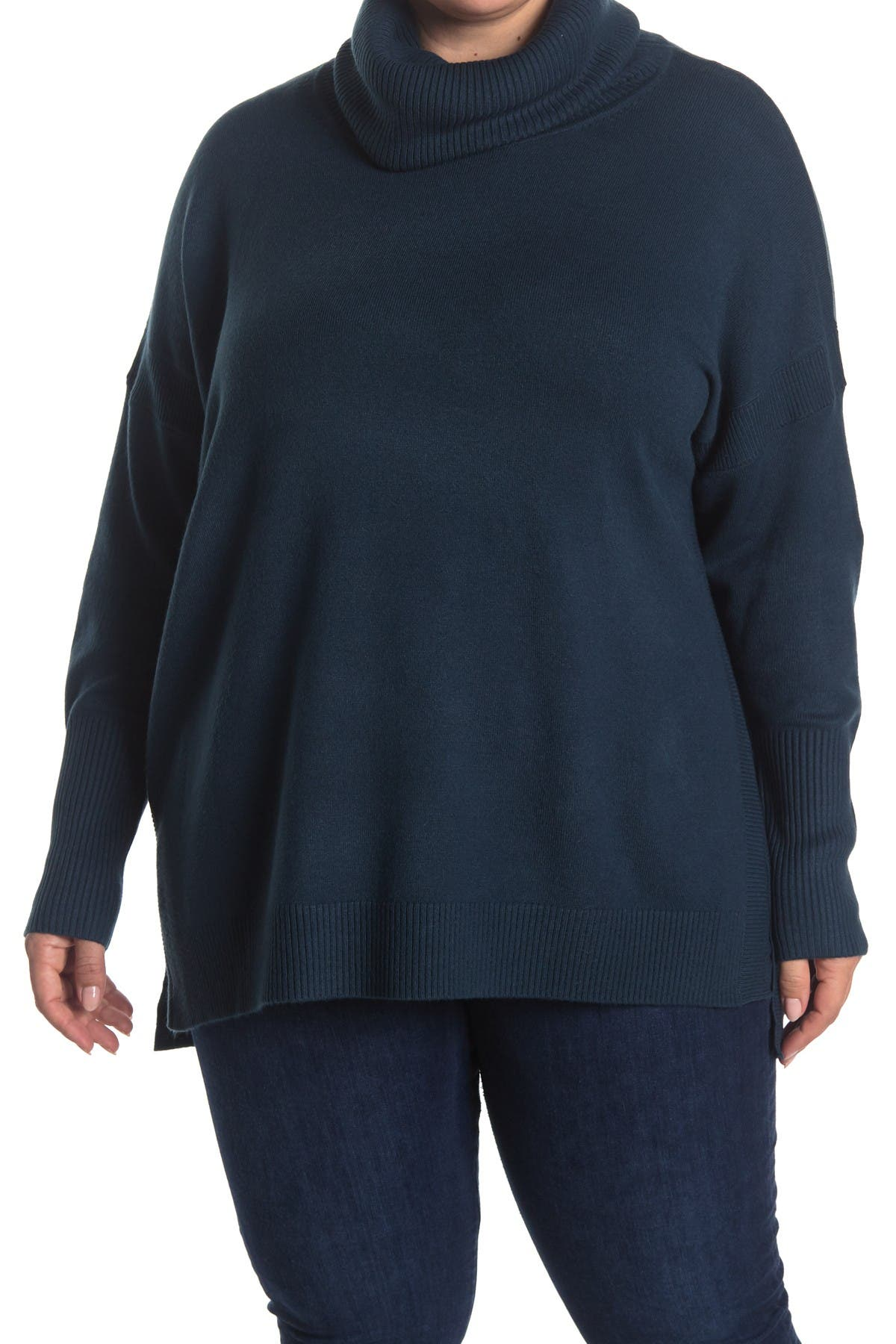Image of French Connection Cowl Neck Step Hem Sweater