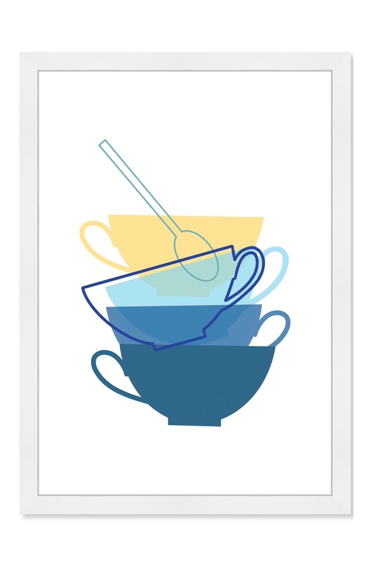 Image of Wynwood Studio Blue & Yellow Plates Framed Wall Art