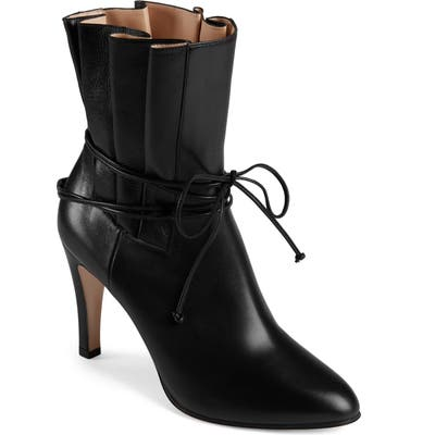Gucci Indya Pleated Bow Tie Bootie, Black