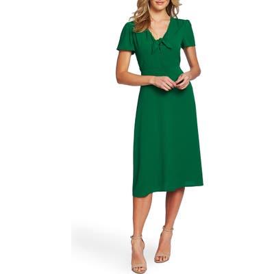 Cece Tie Front Midi Dress, Green