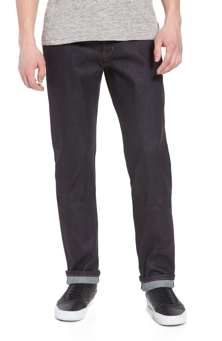NAKED & FAMOUS DENIM Weird Guy Slim Fit Jeans, Main, color, INDIGO