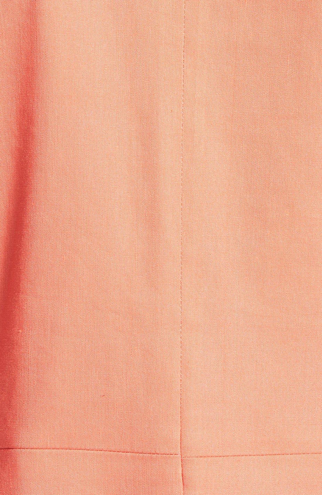 ,                             Seamed Back Linen Blend Blazer,                             Alternate thumbnail 15, color,                             958