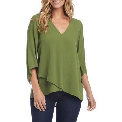 Karen Kane Layered Top, Green