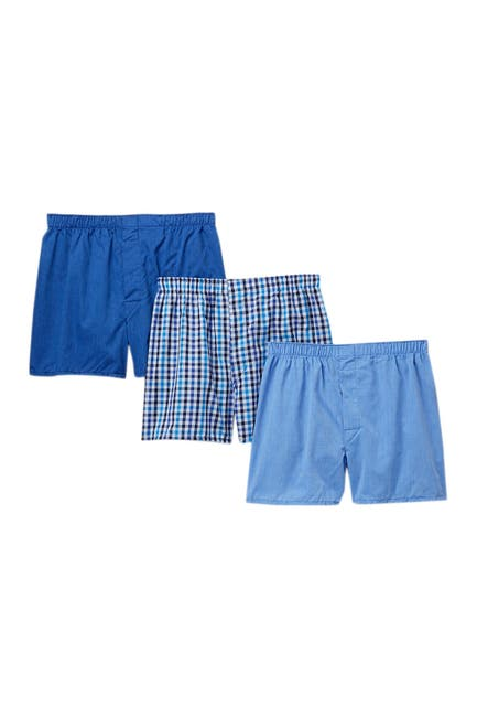 Image of Nordstrom Rack Woven Boxers - Pack of 3
