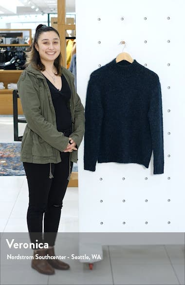 Marled Mock Neck Sweater, sales video thumbnail