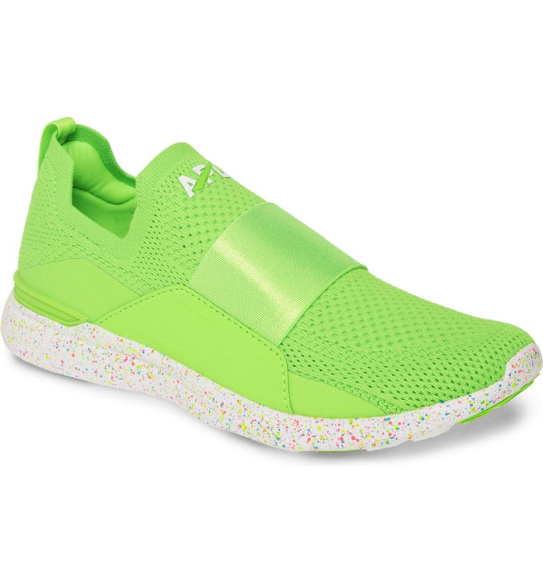 APL TechLoom Bliss Neon Knit Running Shoe, Main, color, NEON GREEN/ WHITE/ SPECKLE