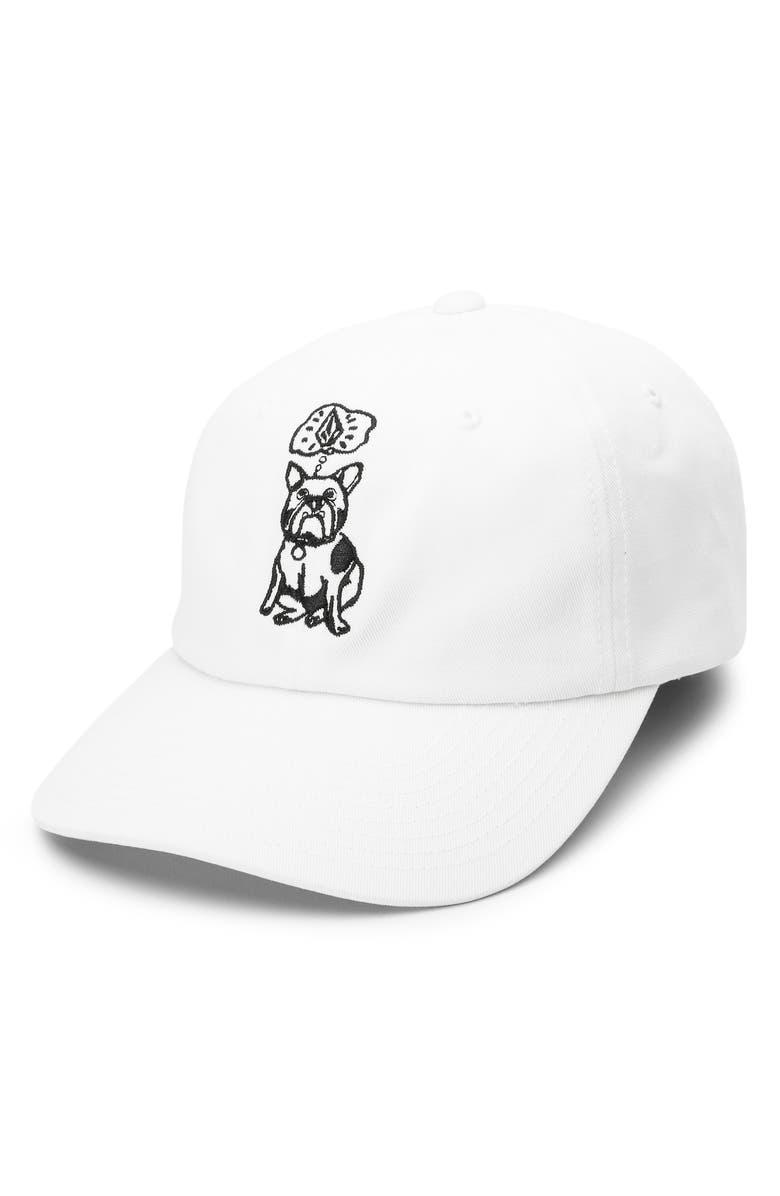 VOLCOM Stone Wonder Dad Hat, Main, color, WHITE