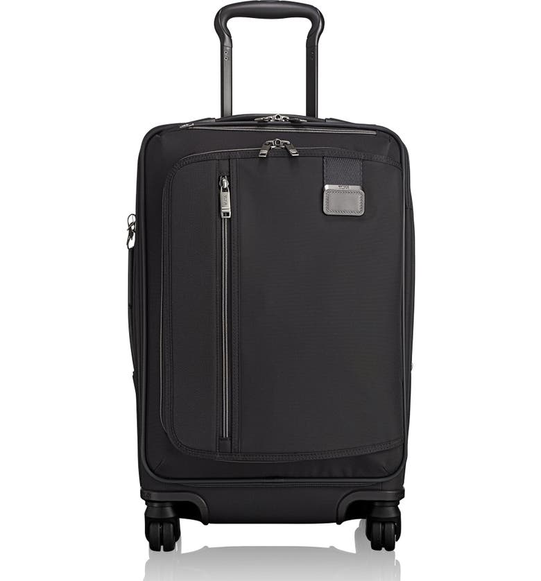 TUMI Merge - 22-Inch International Expandable Rolling Carry-On, Main, color, BLACK CONTRAST