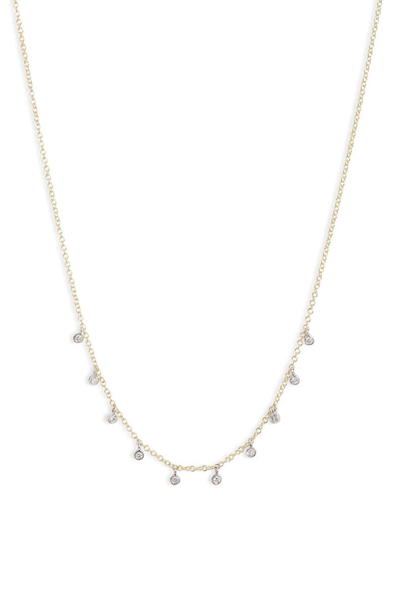 MEIRA T Diamond Shaker Frontal Necklace, Main, color, DIAMOND/ GOLD