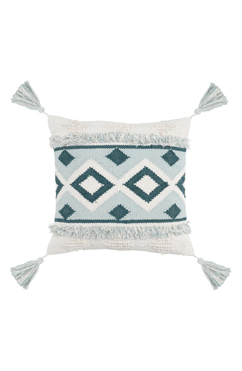 VILLA HOME COLLECTION Kali Tassel Accent Pillow, Main, color, SKY BLUE/ MARINE