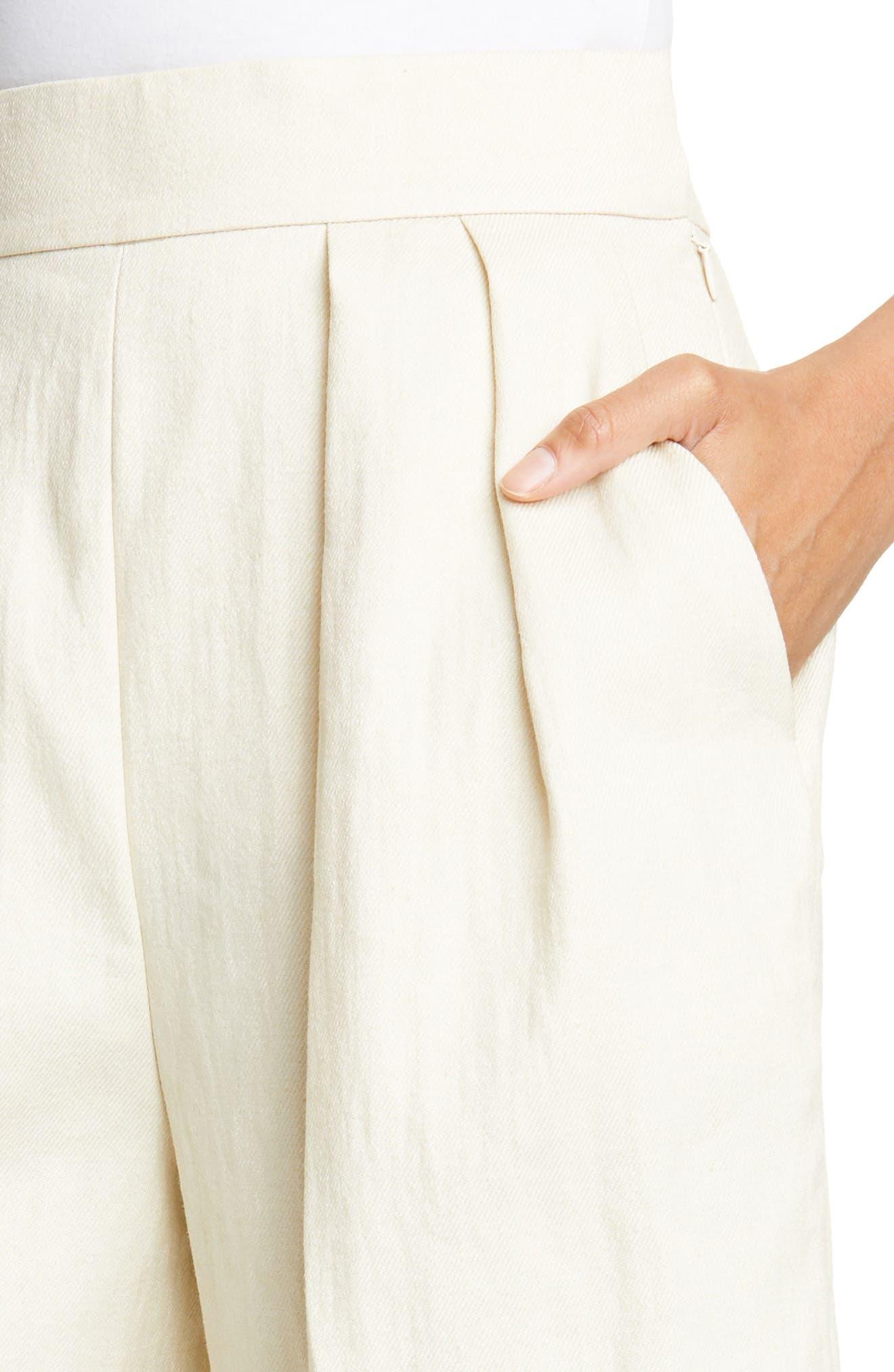 ,                             Pleated Shorts,                             Alternate thumbnail 4, color,                             250