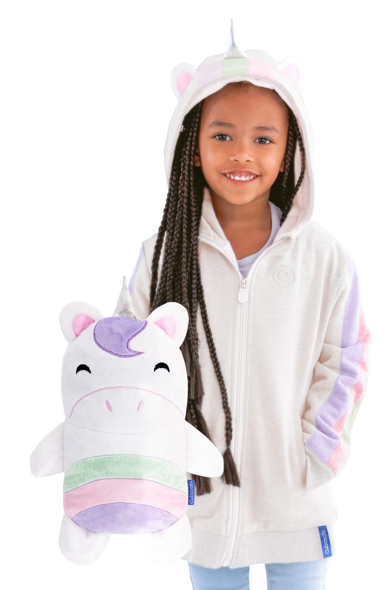 CUBCOATS Uki 2-in-1 Stuffed Animal Hoodie, Main, color, GREY MARL MIX