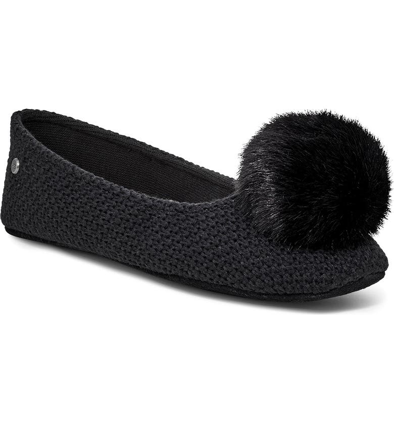 UGG<SUP>®</SUP> Andi Pompom Slipper, Main, color, 001