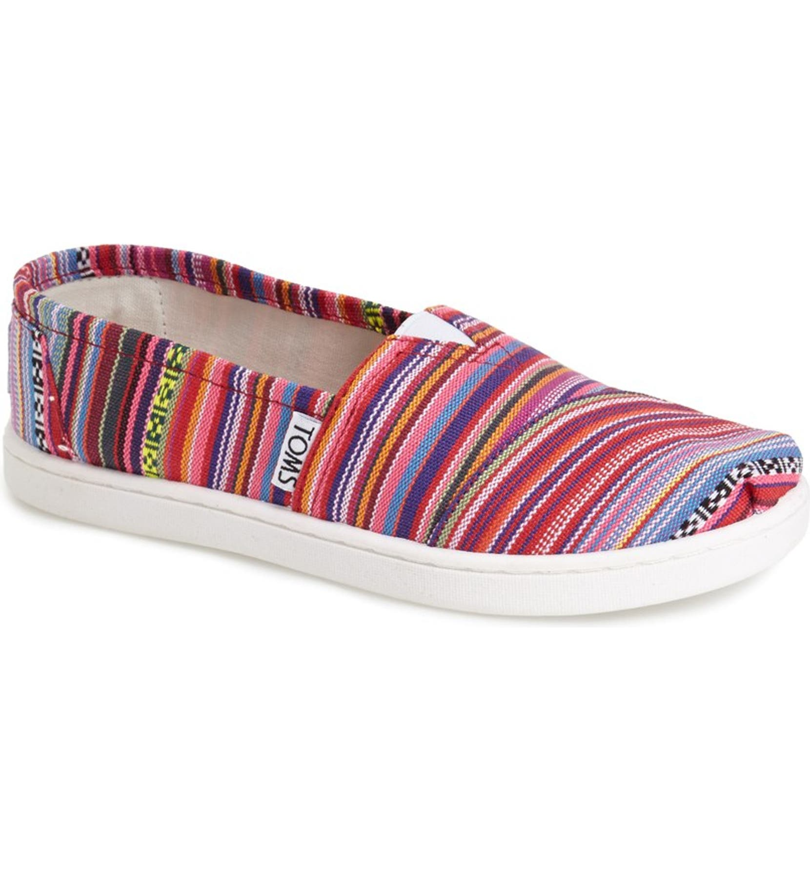 840ae0c69 TOMS 'Classic Youth - Rainbow' Slip-On (Toddler, Little Kid & Big Kid)    Nordstrom