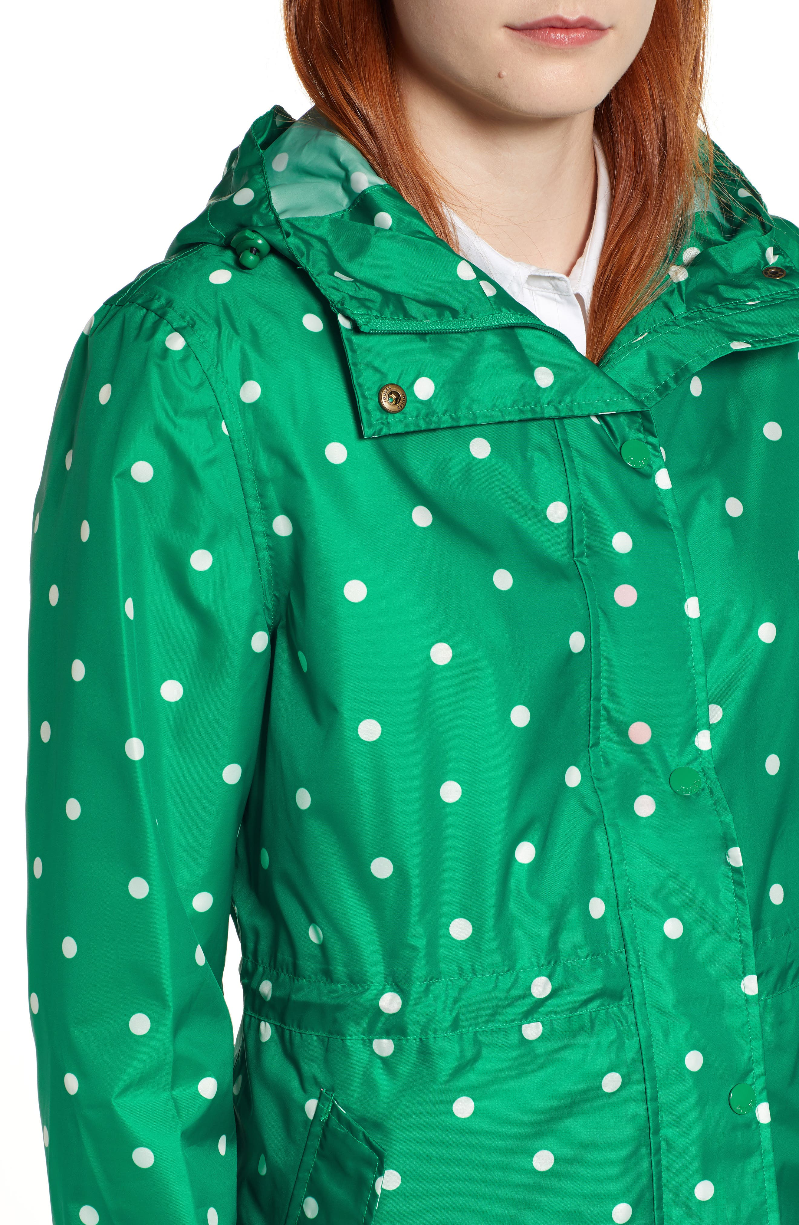 ,                             Go Lightly Waterproof Pack Away Hooded Jacket,                             Alternate thumbnail 5, color,                             GREEN SPOT