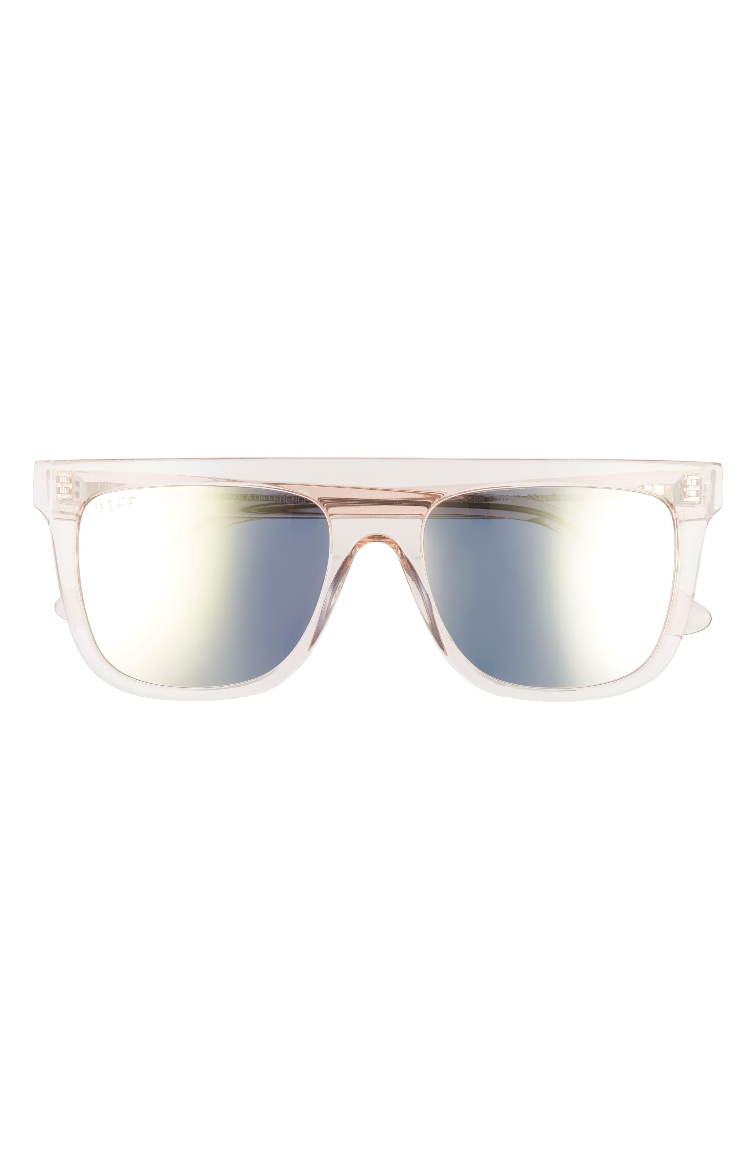 Stevie 55mm Polarized Flat Top Sunglasses