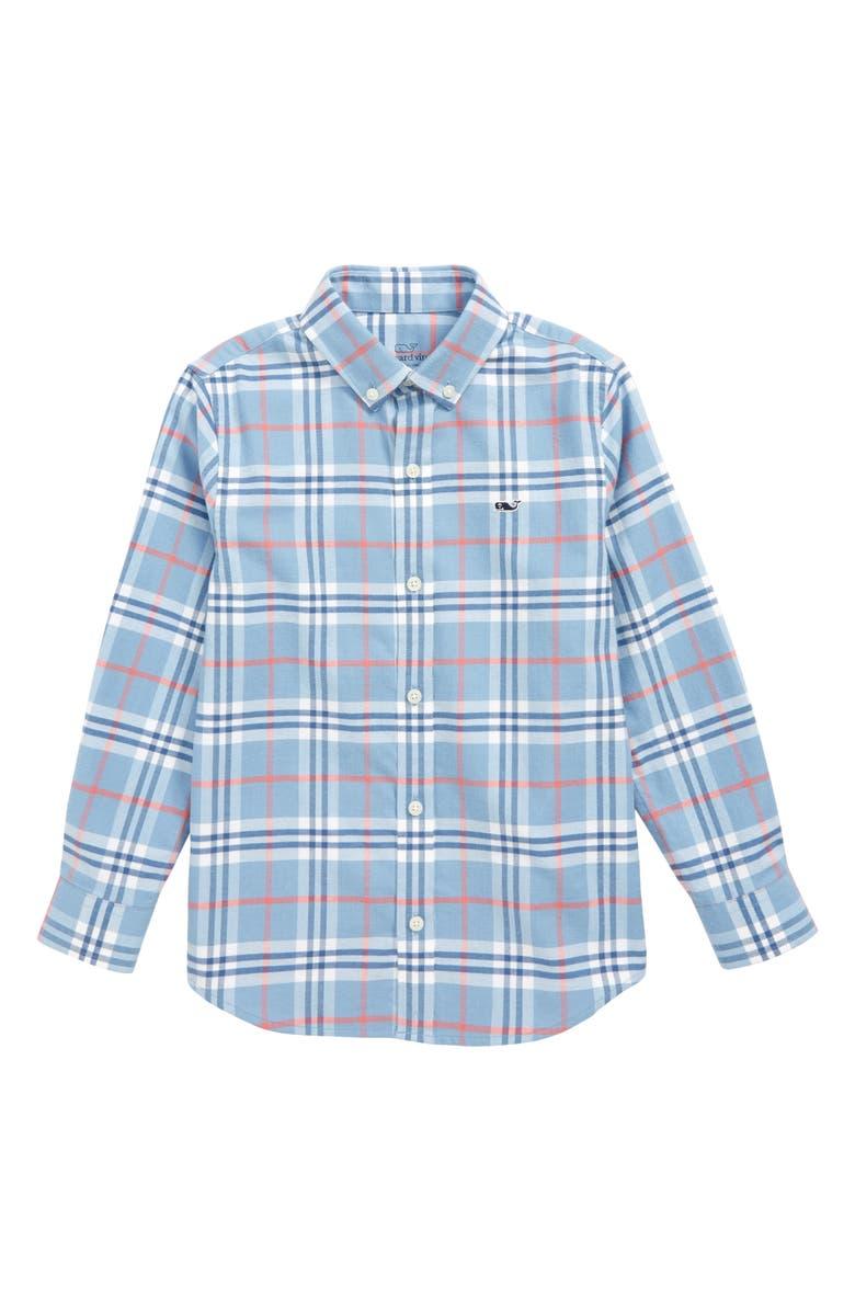 VINEYARD VINES Brushed Cotton Flannel Shirt, Main, color, COASTLINE