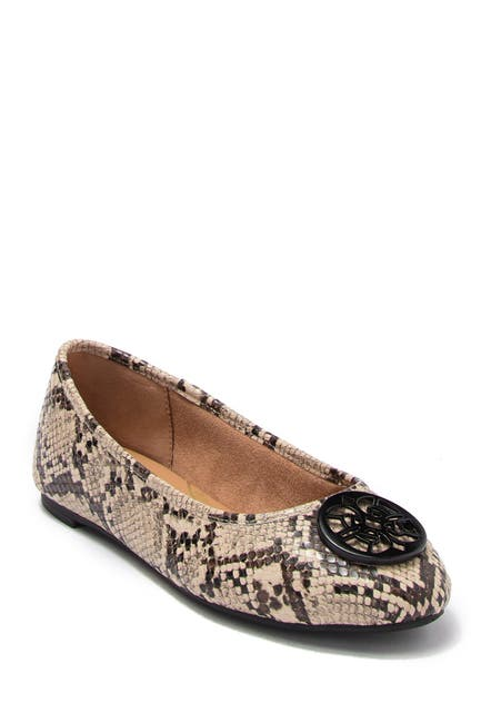 Image of CIRCUS BY SAM EDELMAN Colleen Snakeskin Printed Ballet Flat