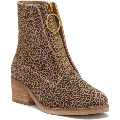 Lucky Brand Tibly Zip Bootie- Brown