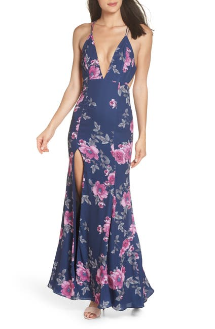Image of FAME AND PARTNERS The Rowen Floral Gown