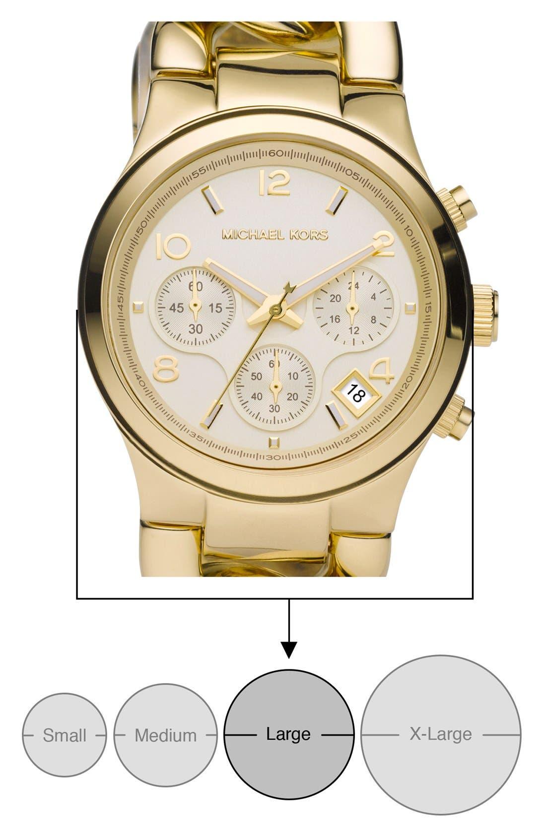 ,                             Michael Kors Chain Bracelet Chronograph Watch, 38mm,                             Alternate thumbnail 13, color,                             710