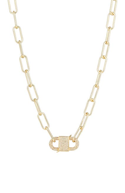 Image of Eye Candy Los Angeles Violet Chain Link Cubic Zirconia Necklace