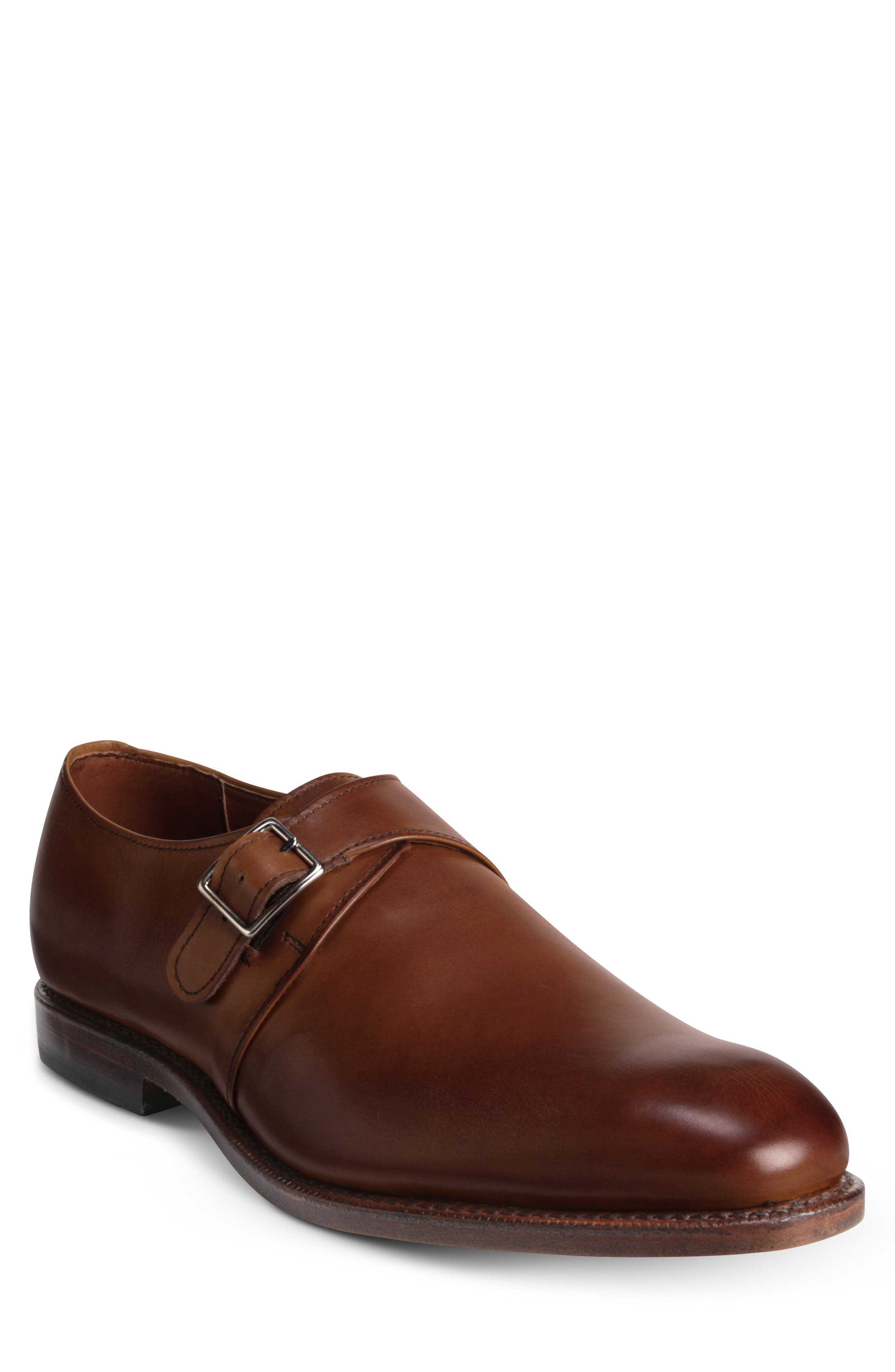 A single monk strap adds to the clean silhouette of this classy shoe that\\\'s handcrafted in Port Washington, Wisconsin, into a durable, stable design. Style Name: Allen Edmonds Plymouth Monk Shoe (Men). Style Number: 6143267. Available in stores.