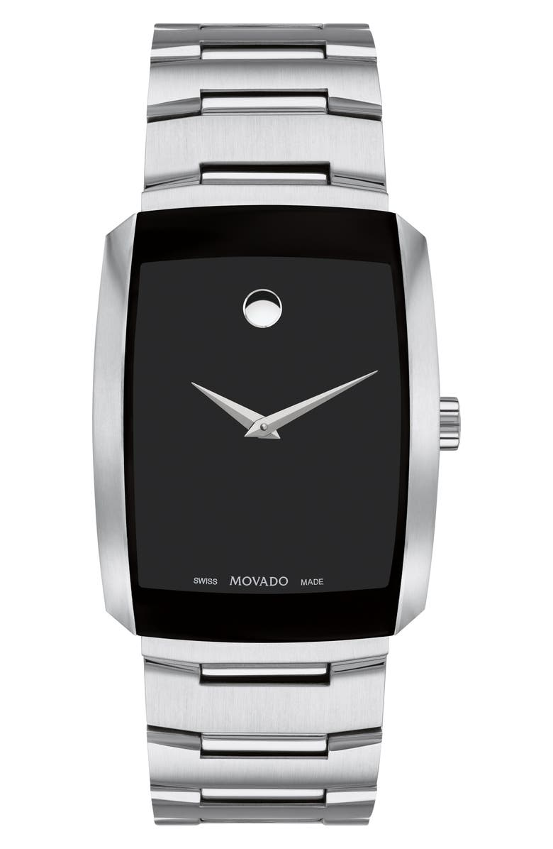 MOVADO Eliro Bracelet Watch, 40mm, Main, color, SILVER/ BLACK/ SILVER