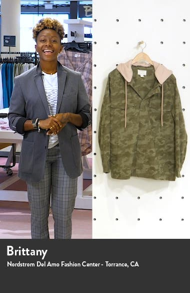Hooded Stretch Cotton Utility Jacket, sales video thumbnail