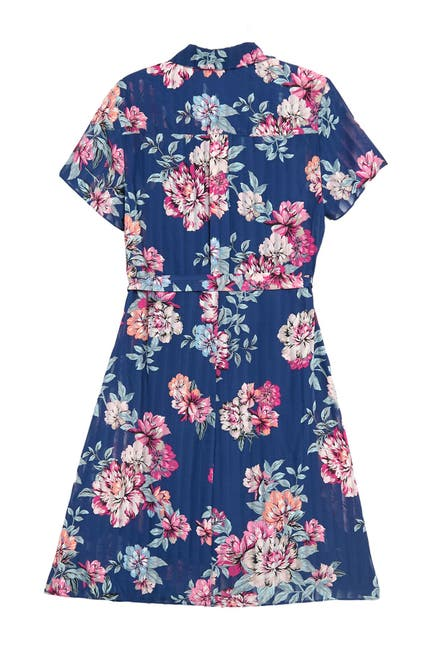 Image of NANETTE nanette lepore Floral Print Pintuck Shirt Dress