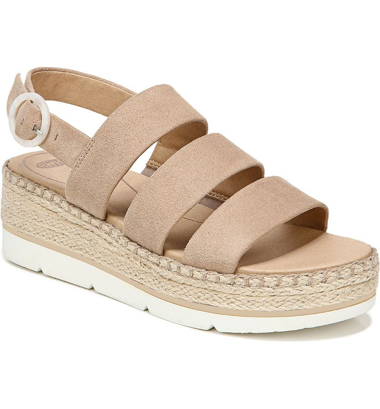 DR. SCHOLL'S One & Only Wedge Sandal, Main, color, TOASTED TAUPE FABRIC