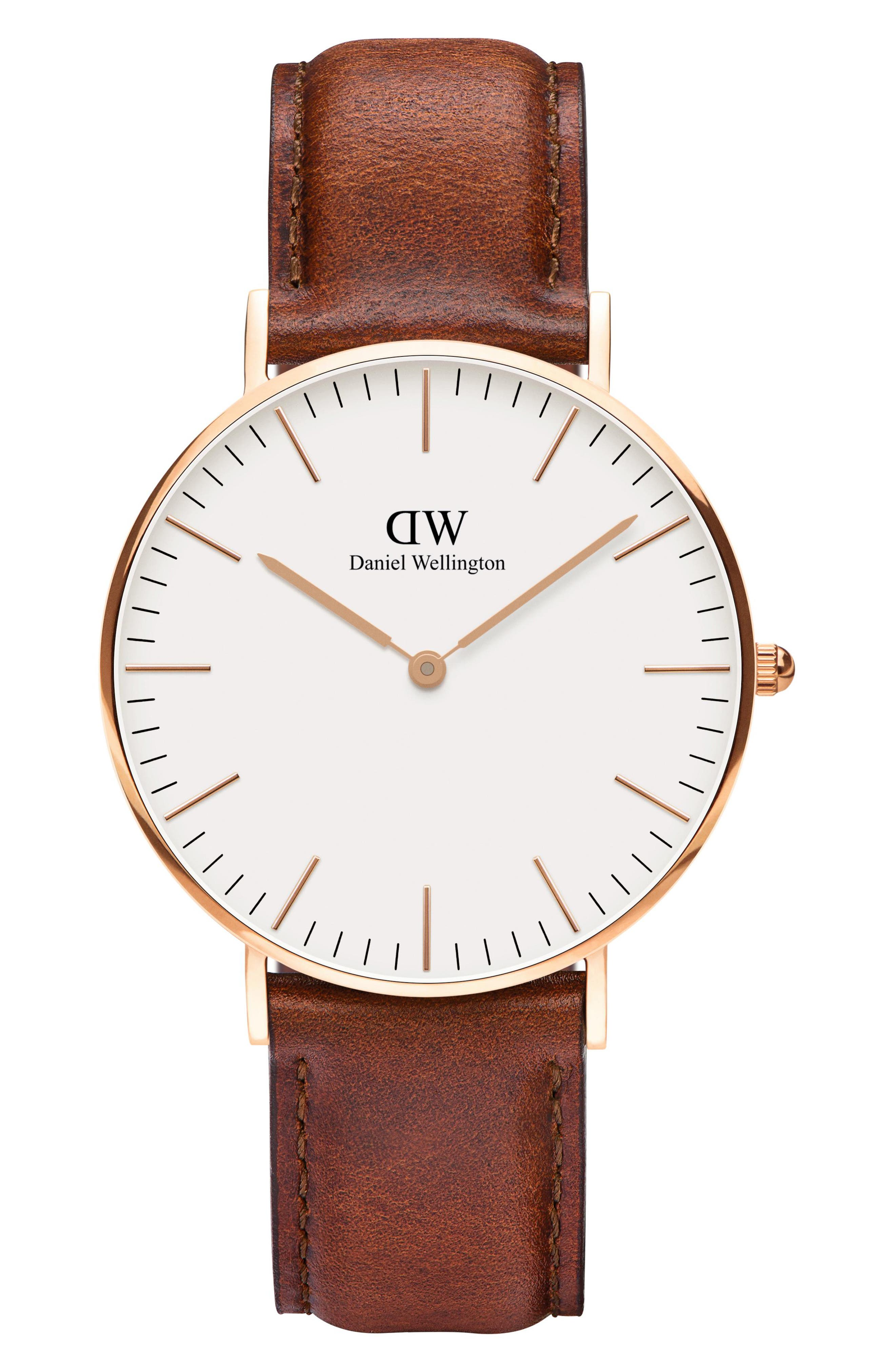 Classic St. Mawes Leather Strap Watch