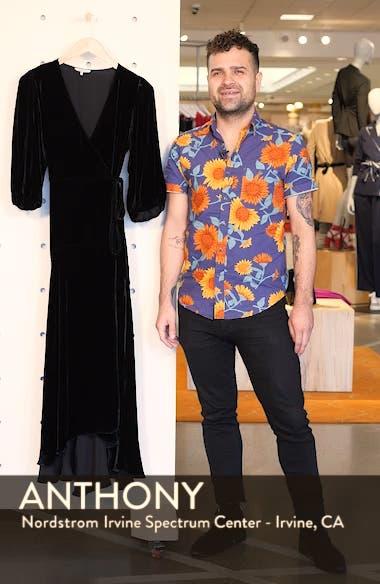 Velvet Wrap Dress, sales video thumbnail