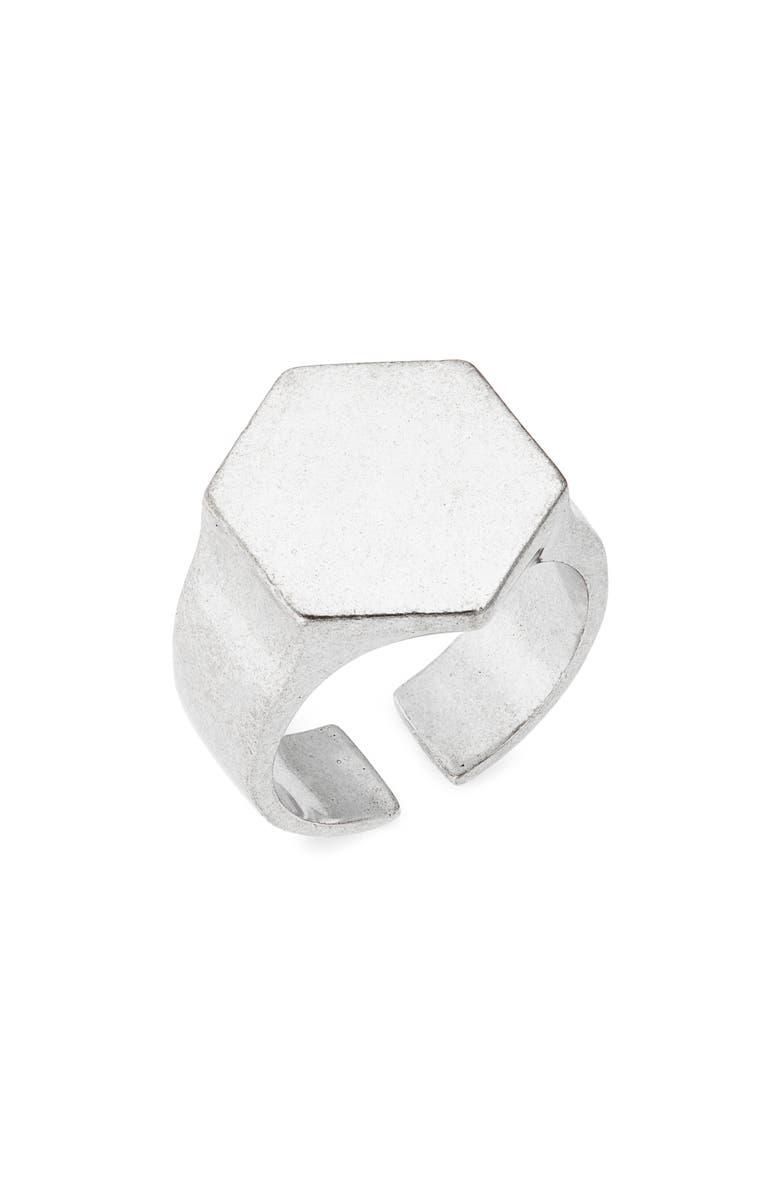 ISABEL MARANT Bague Signet Ring, Main, color, SILVER