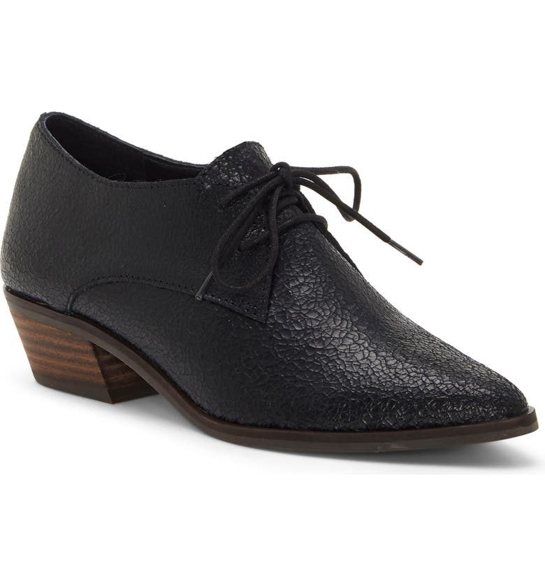 LUCKY BRAND Erreka Derby, Main, color, BLACK LEATHER