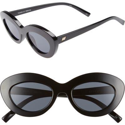 Le Specs Fluxus Cat Eye Sunglasses - Black