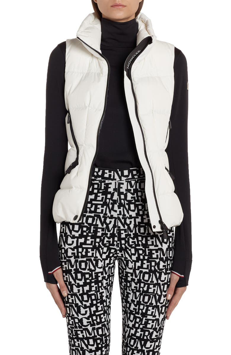 MONCLER Atka Quilted Down Puffer Vest, Main, color, WHITE