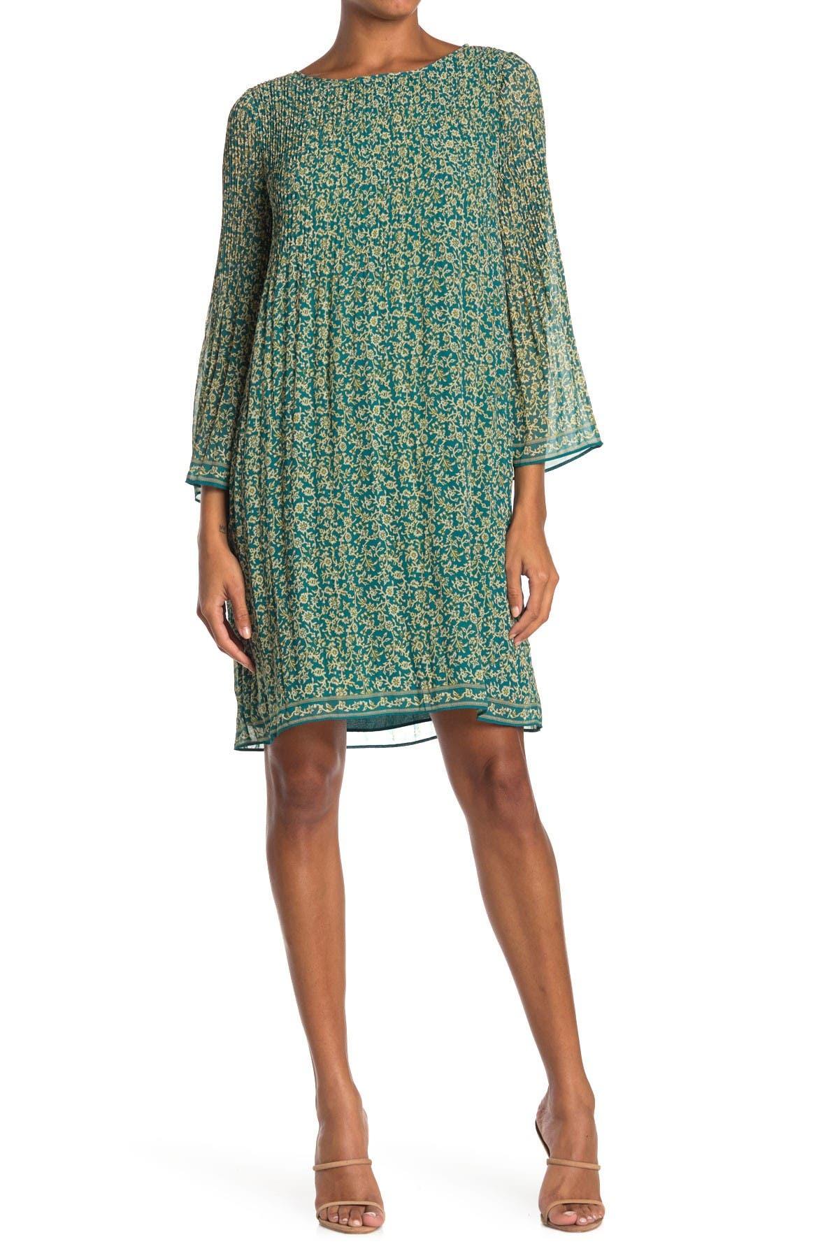 Image of Max Studio Printed Pleated Dress