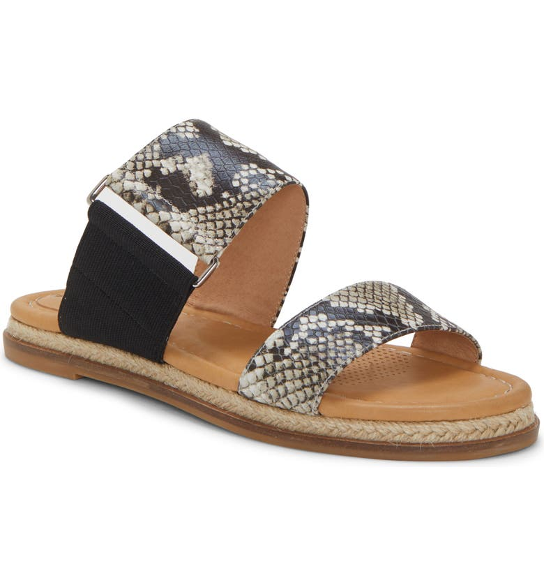 CC CORSO COMO<SUP>®</SUP> Glennia Slide Sandal, Main, color, NATURAL BLACK LEATHER