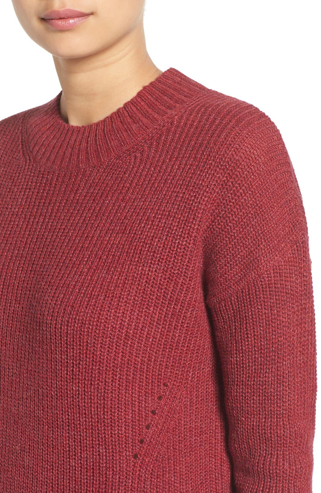 ,                             Ribbed Mock Neck Pullover,                             Alternate thumbnail 31, color,                             601