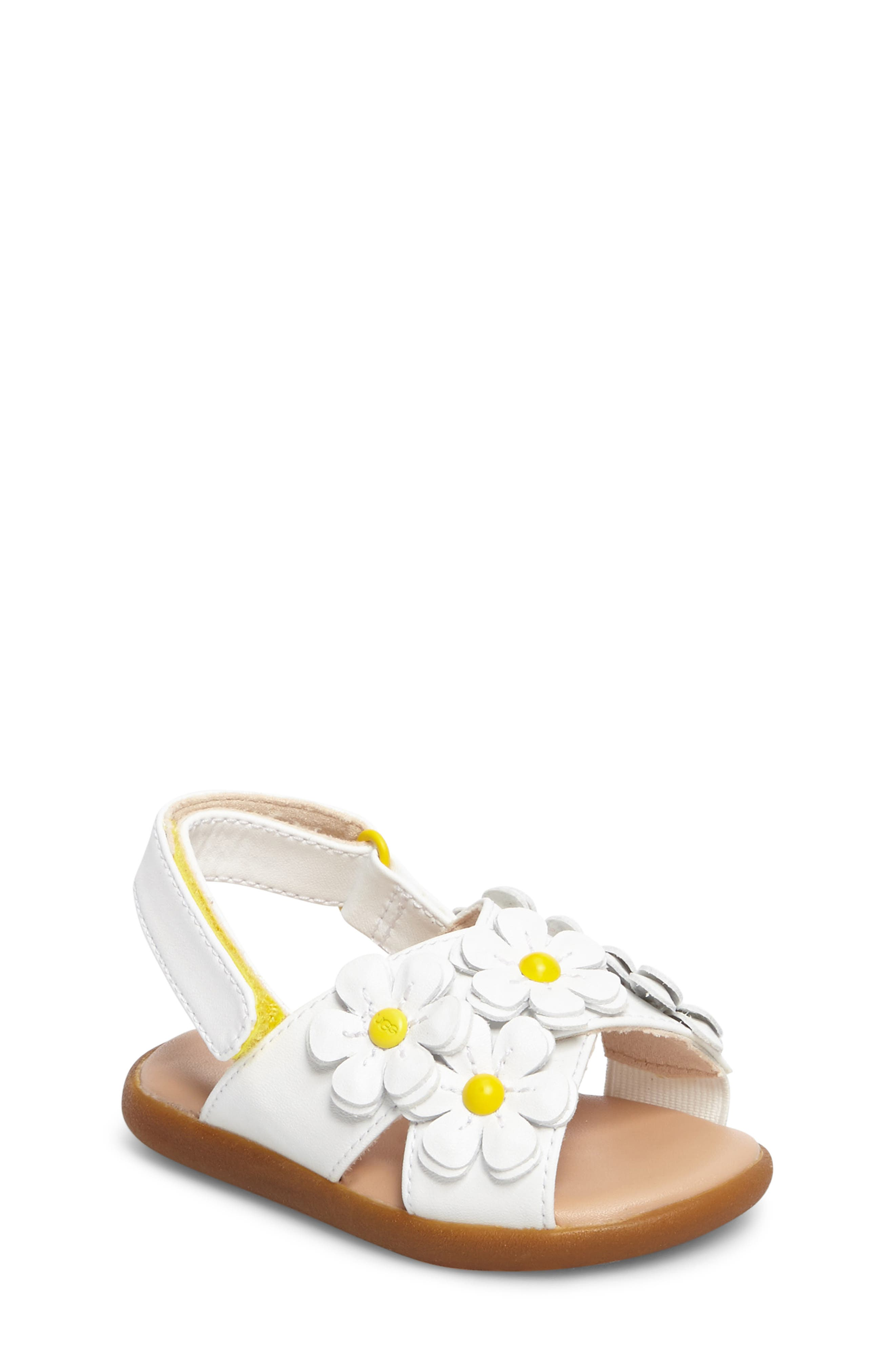 Sweet flowers centered by logo buttons and color-pop dome studs bloom along the straps of a cute, comfortable sandal inspired by springtime in California. Style Name: UGG Allairey Sandal (Walker & Toddler). Style Number: 5451901 2. Available in stores.