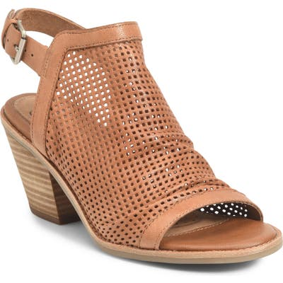 Sofft Milly Perforated Sandal- Brown