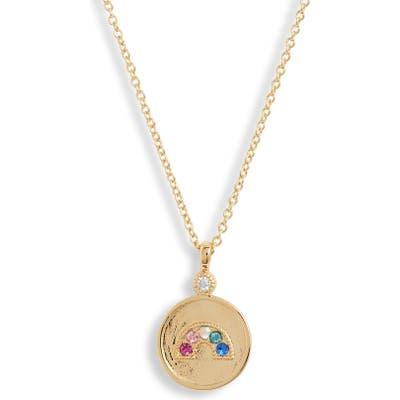 Gorjana Madison Rainbow Coin Pendant Necklace
