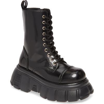 Jeffrey Campbell Stomp Combat Boot, Black