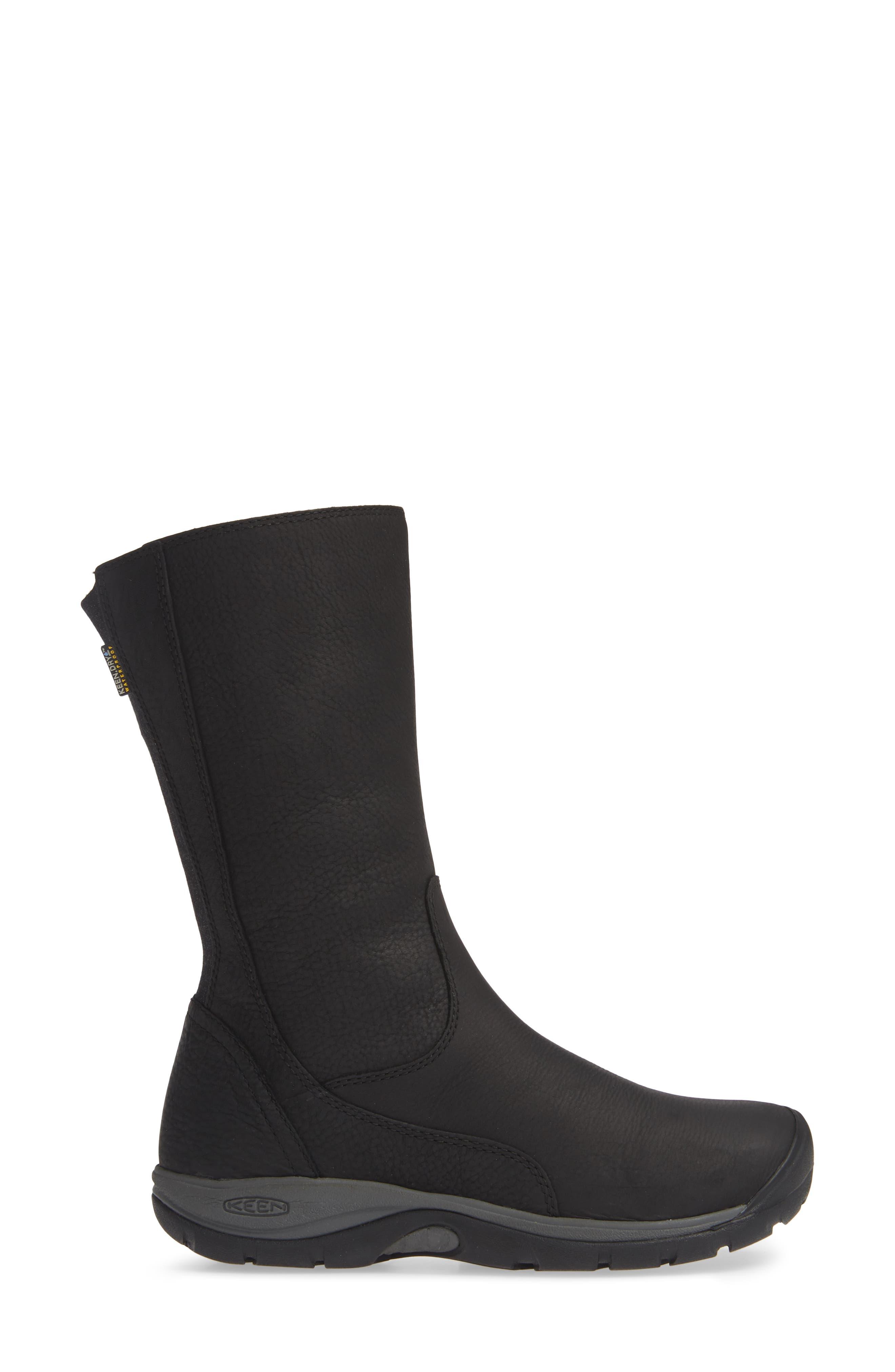 ,                             Presidio II Waterproof Boot,                             Alternate thumbnail 3, color,                             BLACK/ MAGNET LEATHER