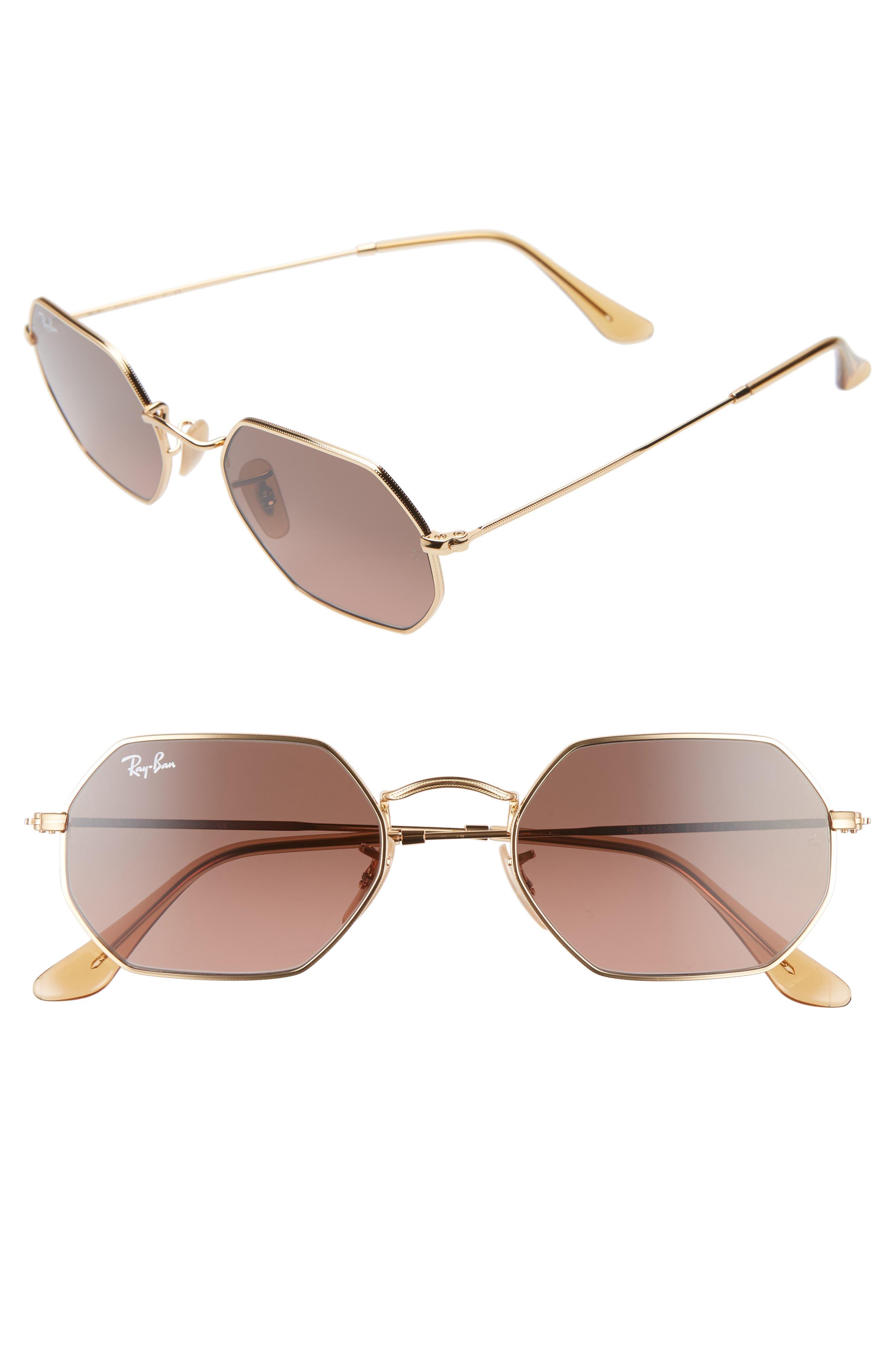 Ray-Ban 5m Rectangular Sunglasses - Gold/ Brown Gradient