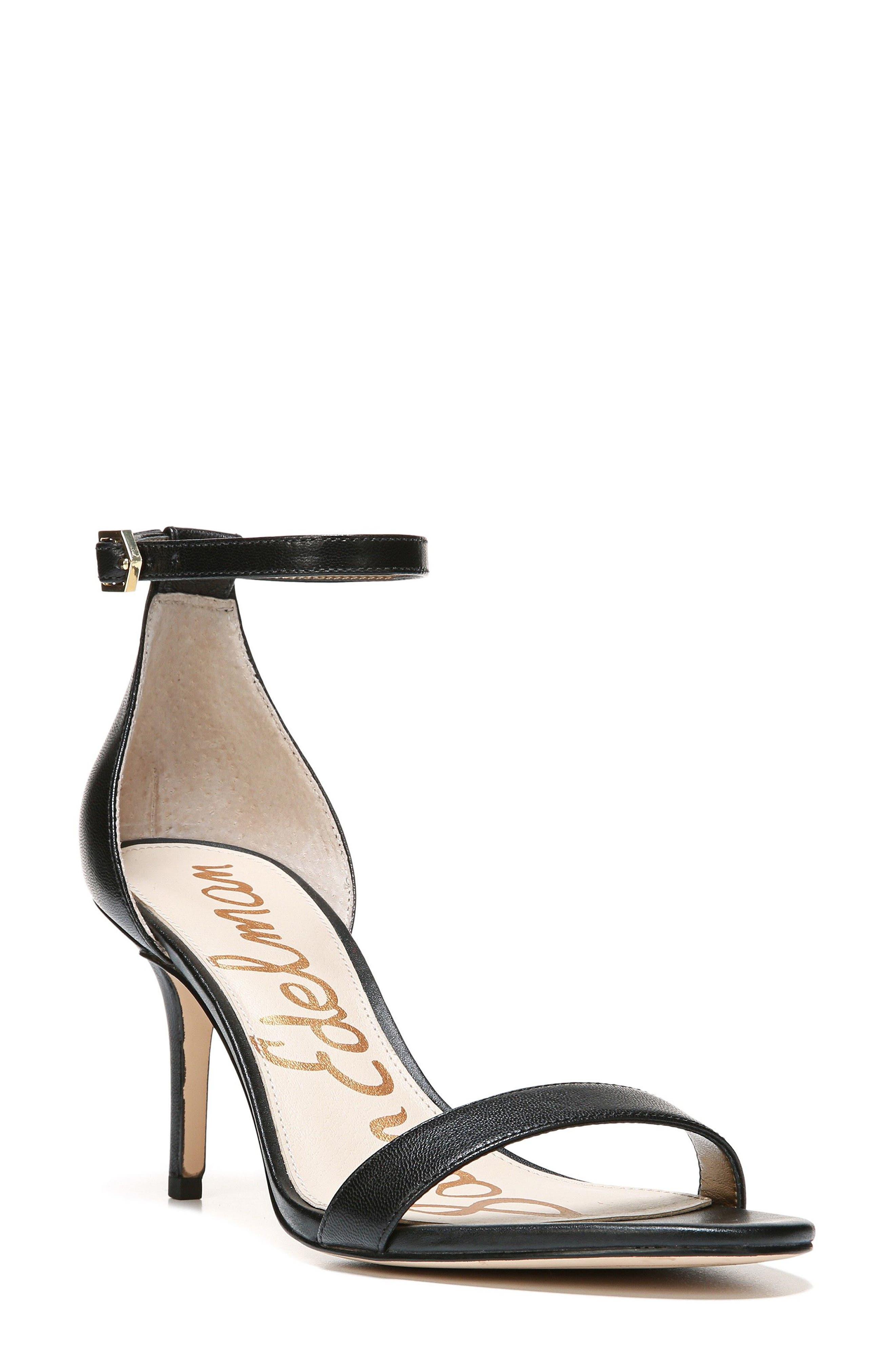 ,                             'Patti' Ankle Strap Sandal,                             Main thumbnail 144, color,                             004