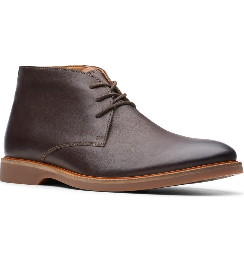 CLARKS<SUP>®</SUP> Atticus Limit Chukka Boot, Main, color, DARK BROWN LEATHER