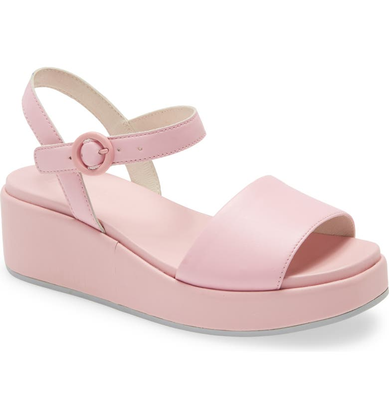CAMPER Misia Platform Wedge Sandal, Main, color, NEW PASTEL PINK LEATHER